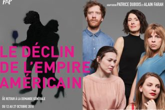 Affiche de la pièce de théâtre Le Déclin de l'empire américain