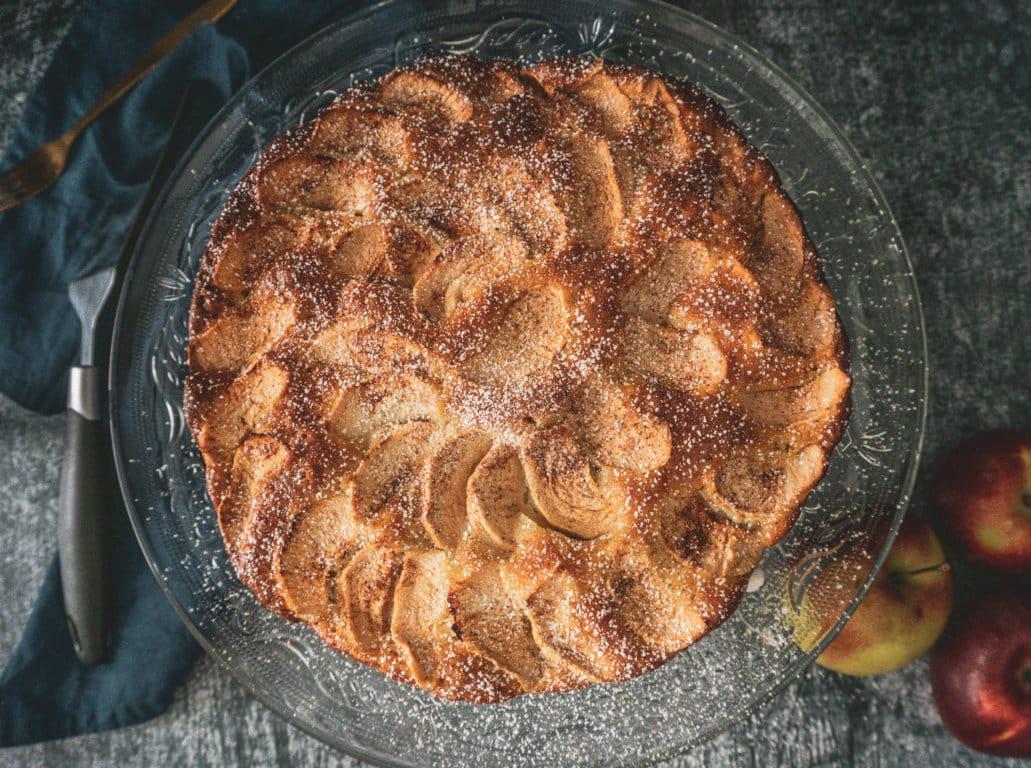 Gâteau au yogourt et aux pommes