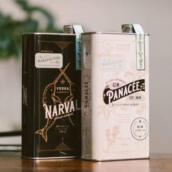 Distillerie La Manufacture - gin Panacée - Vodka Narval